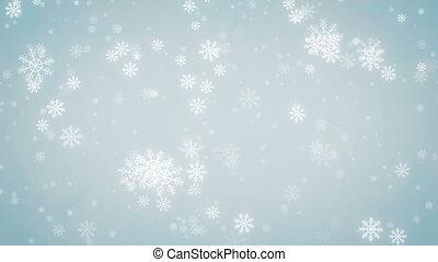 arrière-plan., flocons neige, beau