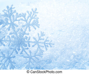 arrière-plan., flocons neige, neige, hiver