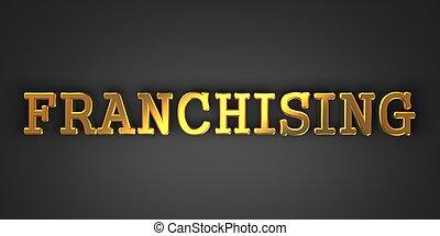 arrière-plan., franchising., business