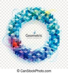 arrière-plan., géométrique, couleurs, résumé, circulaire