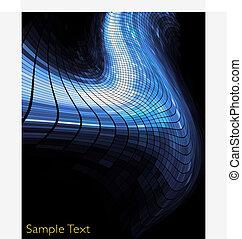 arrière-plan., géométrique, technologie, créatif