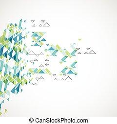 arrière-plan., géométrique, vecteur, résumé