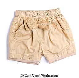 arrière-plan., gosse, pantalon, pantalon