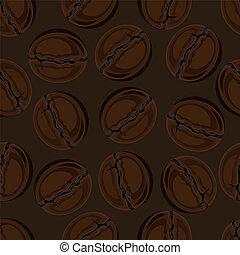 arrière-plan., grains café, seamless