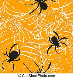 arrière-plan., halloween, illustration