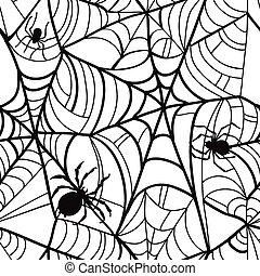 arrière-plan., halloween, pattern., seamless