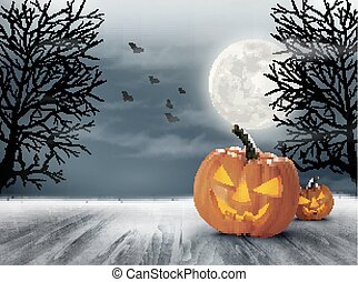 arrière-plan., halloween, spooky