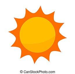 arrière-plan., icône, soleil blanc