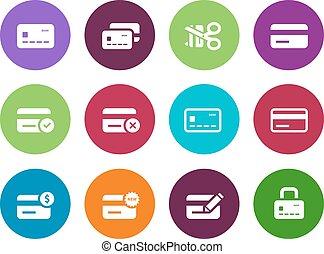 arrière-plan., icônes, crédit, cercle, blanc, carte