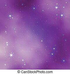 arrière-plan., illustration espace, réaliste, vecteur, galaxie