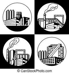 arrière-plan., industriel, usine