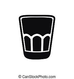 arrière-plan., isolé, verre, blanc, coup, icône