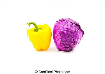 arrière-plan., légumes, blanc, isolé