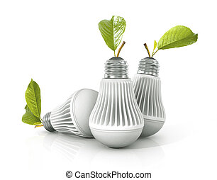 arrière-plan., lampe, blanc, mené, isolé