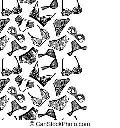 arrière-plan., lingerie panty, soutien gorge