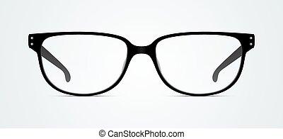 arrière-plan., lunettes, isolé