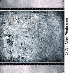 arrière-plan., métal, acier, plaque