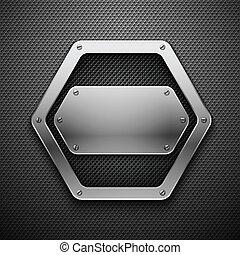 arrière-plan., métal, résumé