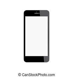 arrière-plan., mobile, écran, vide, isolé, téléphone, réaliste, blanc