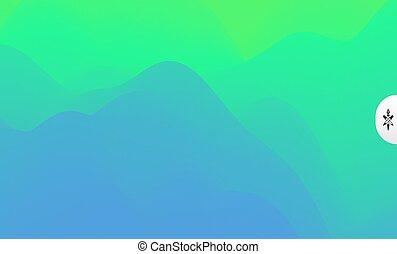 arrière-plan., montagnes, sunrise., vecteur, terrain.,...