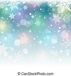 arrière-plan., noël, coloré, flocons neige