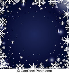 arrière-plan., noël, flocons neige