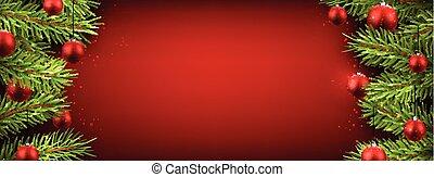 arrière-plan., noël, rouges