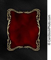 arrière-plan noir, à, rouges, et, or