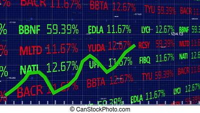 arrière-plan noir, données, stockage, contre, statistique, marché, traitement