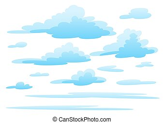 arrière-plan., nuages blancs, illustration