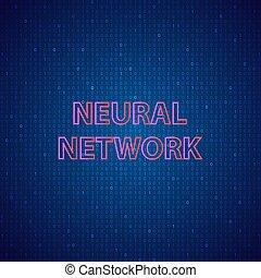 arrière-plan., numérique, réseaux, neural