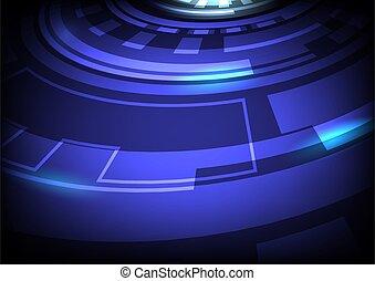 arrière-plan numérique, résumé, hitech, technologie, bleu, vecteur
