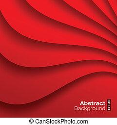 arrière-plan., ondulé, rouges