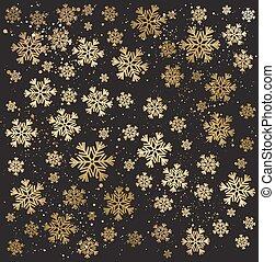 arrière-plan., or, hiver, résumé