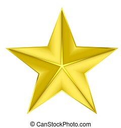 arrière-plan;, or, illustration, vecteur, étoile, blanc, elegantisolated, stockage