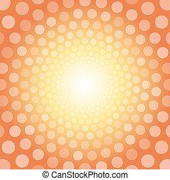 arrière-plan orange, polka, blanc