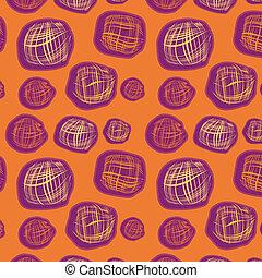 arrière-plan orange, seamless, squ