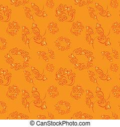 arrière-plan orange, vecteur, seamless