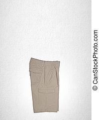 arrière-plan., pantalon, ou, homme, short