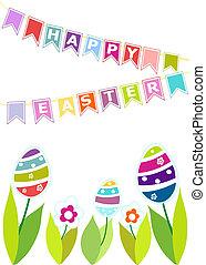 arrière-plan., paques, coloré, eggs.