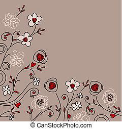 arrière-plan pastel, floral