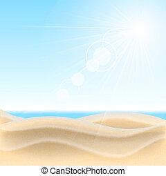 arrière-plan., plage sable