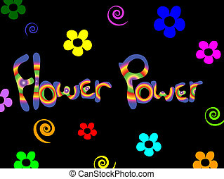 arrière-plan., puissance fleur
