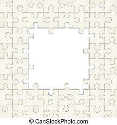 arrière-plan., puzzle, vecteur, cadre, illustration