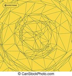 arrière-plan., réseau, résumé