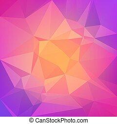 arrière-plan., résumé, carrée, triangle