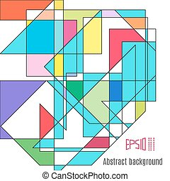 arrière-plan., résumé, colorfull, géométrique