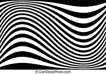 arrière-plan., résumé, ondulé, lignes