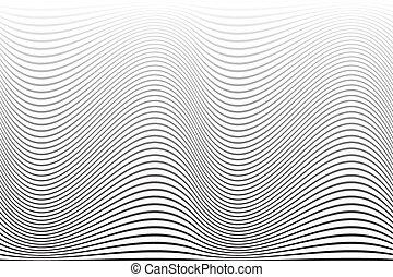 arrière-plan., résumé, ondulé, lignes, texture.