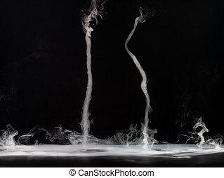 arrière-plan., résumé, sombre, fumée, isolé